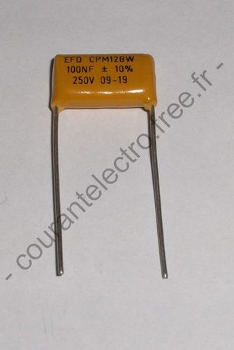 100nF-10%-250V-CPM12BW