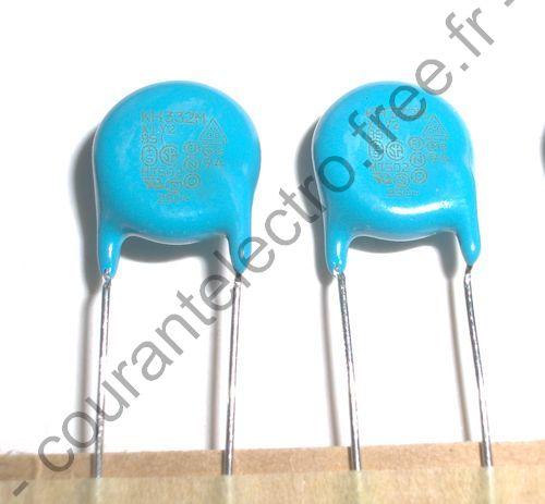 DE2E3KH332M haute Voltage Ceramique Condensateur
