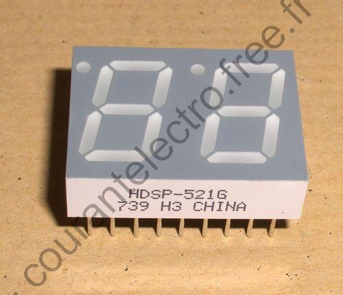 HDSP-521G LED Afficheurs vert 571nm 0.56in 7 Segment