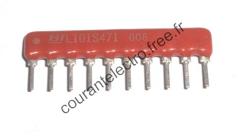 L101S471 Thick Film Low Profile SIP Conformal Coated Resistor Networks