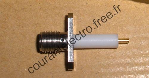 R125464001W RF Connecteur Coaxial SMA 2H FLANGE JACK